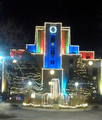 Boulder Courthouse at Christmastime  Copyright 2014 Suzanne Norton